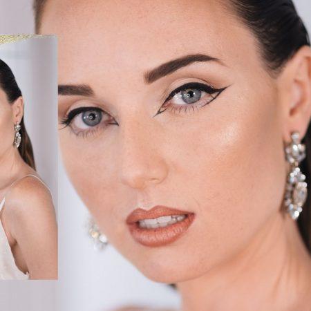 Maquillaje Novia Vintage: piel mate, contorno y eye-liner
