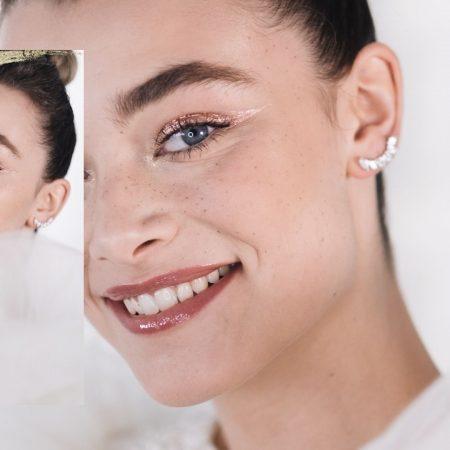 Maquillaje Novia Artsy: piel luminosa, pecas, glitter…